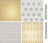 art deco seamless pattern set.