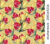 seamless watercolor pattern of... | Shutterstock . vector #200165216