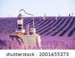 distillation of lavender...   Shutterstock . vector #2001655373