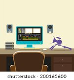 video editing room concept.... | Shutterstock .eps vector #200165600