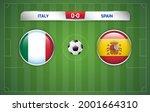 italy vs spain scoreboard... | Shutterstock .eps vector #2001664310