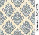 vector damask seamless pattern... | Shutterstock .eps vector #200166788