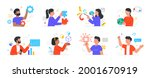 people with different mental... | Shutterstock .eps vector #2001670919