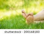 Bare Feet On Green Grass  Copy...