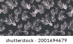 pink palm leaves tropical... | Shutterstock .eps vector #2001694679