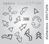 arrow sketch collection. vector ... | Shutterstock .eps vector #200171696