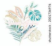tropical vector illustration... | Shutterstock .eps vector #2001736976
