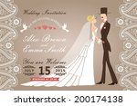 vector design wedding...