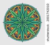Weed Leaf Mandala Cannabis...