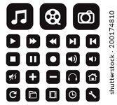 modern media icons isolated for ... | Shutterstock .eps vector #200174810