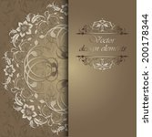 elegant background with lace... | Shutterstock .eps vector #200178344