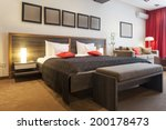 Stock photo luxury bedroom interior 200178473