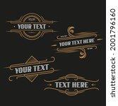 vintage art deco frame for... | Shutterstock .eps vector #2001796160