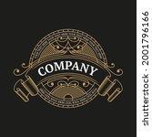 vintage style ornate emblem... | Shutterstock .eps vector #2001796166