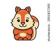 squirrel icon. icon design.... | Shutterstock .eps vector #2001827300