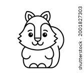 squirrel icon. icon design.... | Shutterstock .eps vector #2001827303