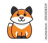 fox icon. icon design. template ... | Shutterstock .eps vector #2001828329
