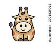 giraffe icon. icon design.... | Shutterstock .eps vector #2001829016
