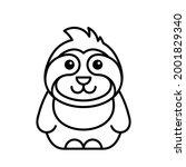 sloth icon. icon design.... | Shutterstock .eps vector #2001829340