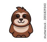 sloth icon. icon design.... | Shutterstock .eps vector #2001829343