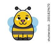 bee icon. icon design. template ... | Shutterstock .eps vector #2001829670