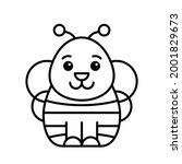 bee icon. icon design. template ... | Shutterstock .eps vector #2001829673