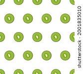 kiwi fruit and slices of kiwi...   Shutterstock .eps vector #2001835010