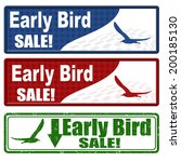 early bird sale coupons on... | Shutterstock .eps vector #200185130