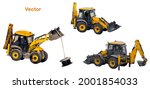 universal tractor for... | Shutterstock .eps vector #2001854033