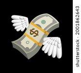 flying money emoji  dollar with ... | Shutterstock .eps vector #2001862643