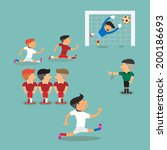 usa and protugal soccer players ... | Shutterstock .eps vector #200186693