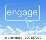 engage message cloud shape | Shutterstock . vector #200187020