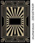art deco style background ... | Shutterstock .eps vector #2001874439