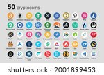 cryptocurrency or crypto coins... | Shutterstock .eps vector #2001899453
