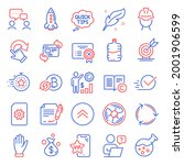 business icons set. included... | Shutterstock .eps vector #2001906599