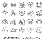 love icons set. included icon...   Shutterstock .eps vector #2001906749