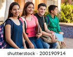 group of four teenage friends... | Shutterstock . vector #200190914