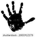 handprint of palm of child ...   Shutterstock .eps vector #2001912173