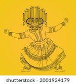 sri lankan traditional devil... | Shutterstock .eps vector #2001924179