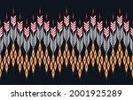 ikat ethnic design abstract... | Shutterstock .eps vector #2001925289