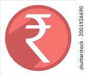 indian rupee icon. red currency ...   Shutterstock .eps vector #2001926690
