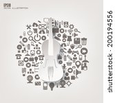 music instrument icon. flat...