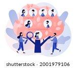 family tree. genealogy. tiny... | Shutterstock .eps vector #2001979106