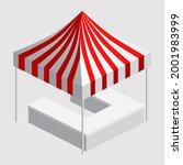 isometric market stall  tent.... | Shutterstock .eps vector #2001983999