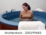 pregnant woman during natural... | Shutterstock . vector #200199683