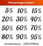 set of 12 isolated percentage...