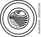 eagle logo in the beak of the...   Shutterstock .eps vector #2002031156