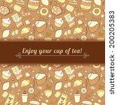 tea and sweets vector...   Shutterstock .eps vector #200205383