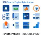 seo search engine optimization...   Shutterstock .eps vector #2002061939