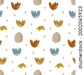 background with dino eggs. ...   Shutterstock . vector #2002065923